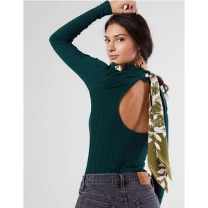 Free People Party in the back ribbon top